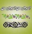 Floral vintage borders vector