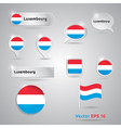 Luxembourg icon set of flags vector