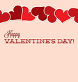 Vintage typographic valentines day card in format vector