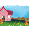Small rural house vector