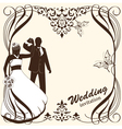 Wedding card invitation vector