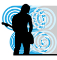 Singer playing guitar vector