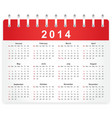 Stylish calendar page for 2014 vector