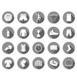 Set of icons basketball vector