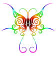 Colorful tribal butterfly tattoo vector
