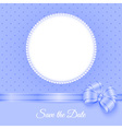 Photoframe with beads and bow vector