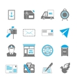 Post service icons vector