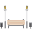 Bench in the park vector