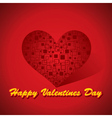 Happy valentines day red background vector