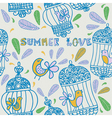Summer floral love background vector