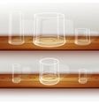 Whiskey shot glass vector