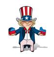 Uncle sam republican n democratic vector