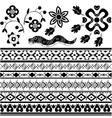Set of ancient american ornaments vector