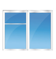 Window with blue sky vector