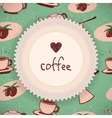 Coffee background in retro style vector