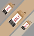 Price tag on recycle brown paper vector