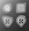 Bag glass buttons vector