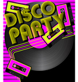 Retro party background vector