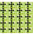 Abstract seamless pattern with rounded crosses vector