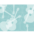 Seamless pattern with acoustic guitar silhouettes vector