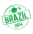 Brazil 2014 grunge rubber stamp vector