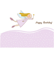 Happy birthday greeting card - vector