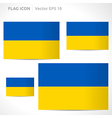 Ukraine flag template vector