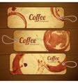Set of vintage coffee labels vector