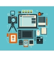Photographer stuff and elements flat concept of vector