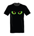 T-shirt with cat eye on it vector