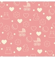 Seamless baby background vector