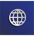 Paper globe vector