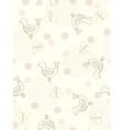 Seamless birds and butterflies background vector
