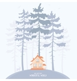 Pine and lodge vector