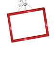 Picture frame in red color vector
