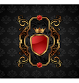 Ornate decorative golden frame - vector