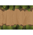 Wooden fence and lush foliage vector