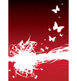 Butterfly splash background vector
