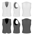 Ladies white and black waistcoats vector