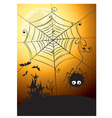 Spider and full moon vector