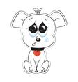 Loving dog vector