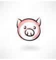 Pig grunge icon vector