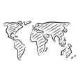 World map sketch vector