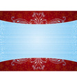 Blue background with decorative ornaments vector