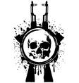 Skull ak blood vector