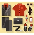 Flat business collection dress gray color vector
