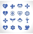 Medical logo blue vector