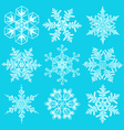 Cold crystal gradient snowflakes - set vector