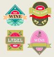 Set of wine label vector
