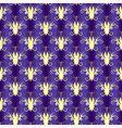 Violet seamless floral pattern vector